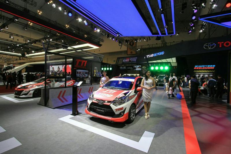 Sudut motorsport Toyota Booth di GIIAS 2018. (foto : BS)