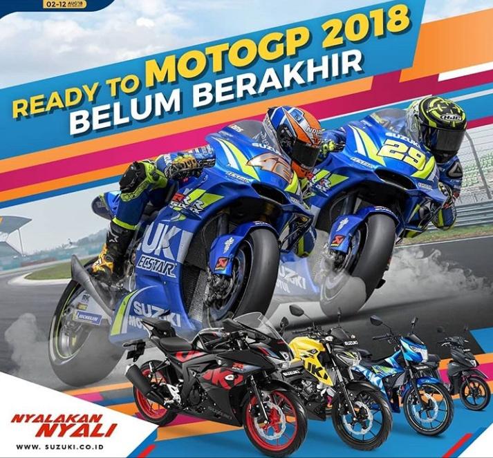 Program Suzuki Ready to MotoGP berakhir sampai 30 September 2018. (foto: Suzuki)