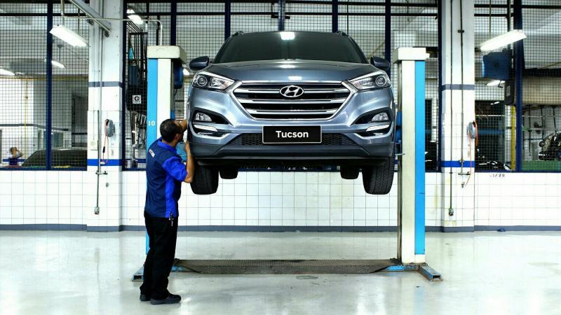 Fasilitas pengecatan dan body repair resmi Hyundai di Simprug, Jakarta Selatan. (foto : HMI)
