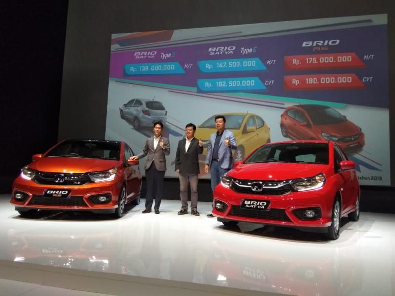 All New Honda Brio dijual mulai Rp 139 jutaan. (foto: anto)