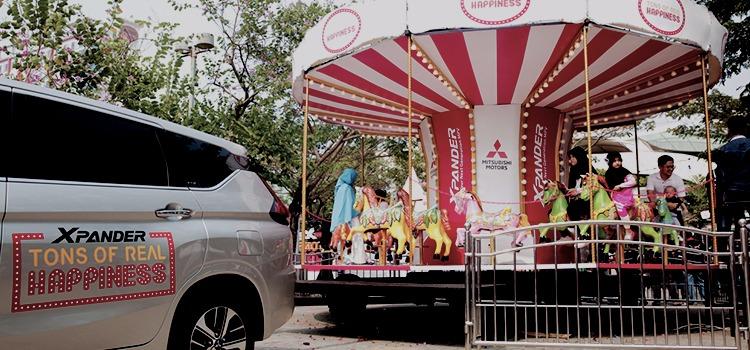 Mitsubishi Xpander Tons of Real Happiness berlangsung di 9 kota besar di Indonesia. (foto: ist)