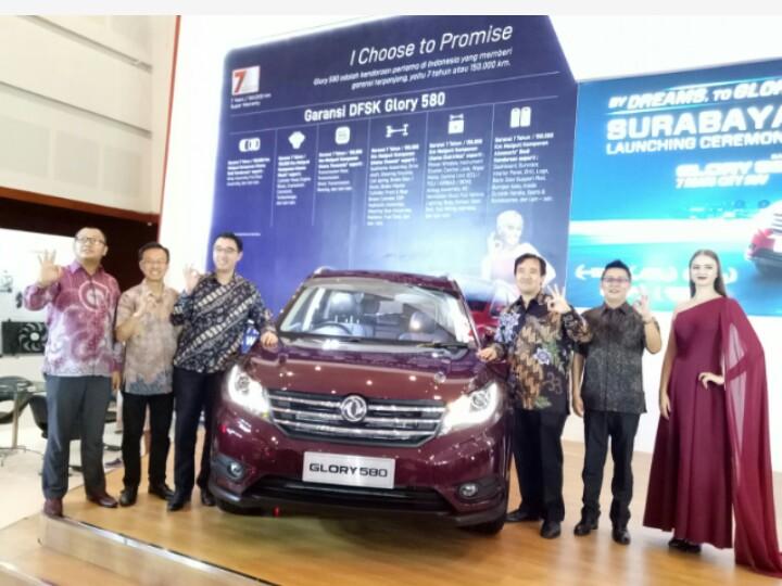 City SUV DFSK Glory 580 kali pertama diluncurkan di GIIAS Surabaya 2018. (foto : budsan)