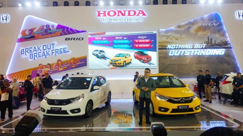 Honda boyong All New Brio untuk pertama kalinya di GIIAS 2018 Surabaya. (foto: HSC)