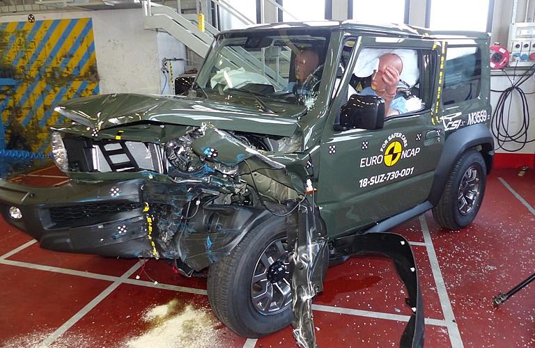 All New Suzuki Jimny raih tiga bintang dalam uji tabrak Euro NCAP. (foto: EuroNCAP)