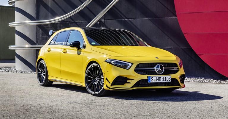 Mercedes-Benz A-Class Generasi keempat jadi basis Mercedes-AMG A35 4MATIC. (foto: Daimler)