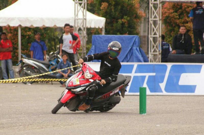 Slalom motor mulai menggeliat lagi di Balikpapan, Kalimantan Timur. (foto : astha)