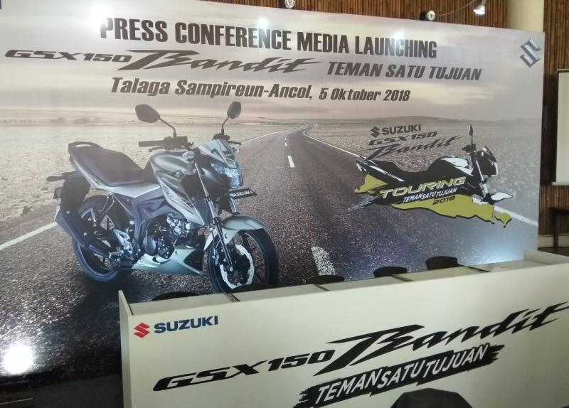 Program extra insentif diharapkan menjadi daya tarik bagi calon konsumen Suzuki GSX150 Bandit. (foto: anto)