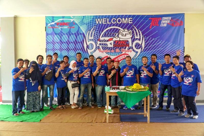 Toyota Agya Club Tangerang Raya berikan manfaat positif di ultah ke-4. (foto: ist)