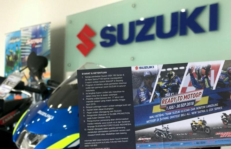 Waspada penipuan, pemenang akan dihubungi langsung oleh pihak Suzuki dan tidak dikenakan biaya apapun. (foto: Robert)
