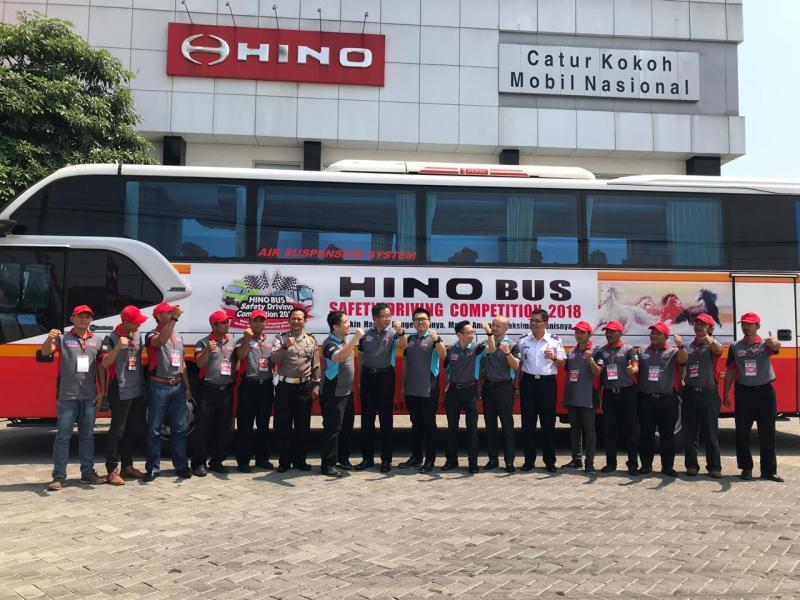 Peserta Hino Bus Safety Driving Competition ke-19 di Kota Surabaya merasakan manfaat positif. (foto: ist)