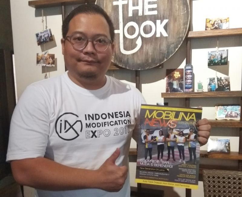 Andre Mulyadi, berharap dapat dukungan semua pihak untuk memajukan dunia modifikasi Indonesia. (foto: anto)