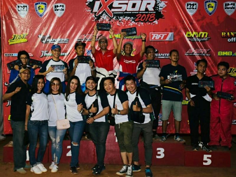 Para juara kelas F1 seri 5 Kejurnas Sprint Rally Tembong Jaya Serang. (foto : ist)
