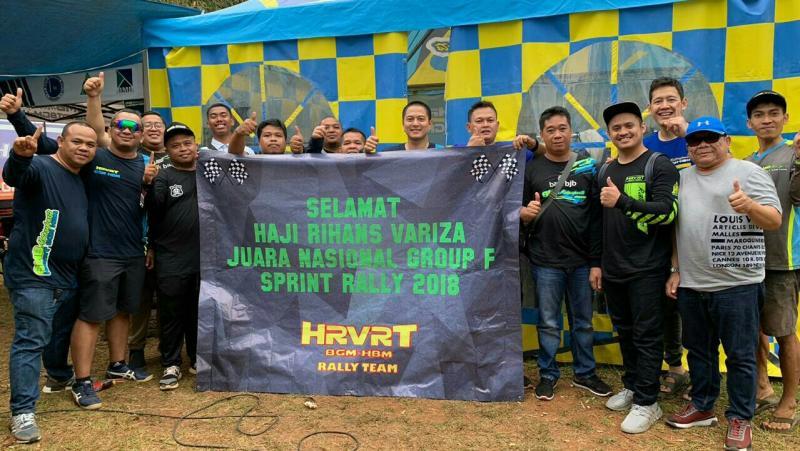 Haji Rihans Variza telah mengunci gelar juara nasional Sprint Rally 2018 di Tembong Jaya, Serang. (foto : hrvrt)