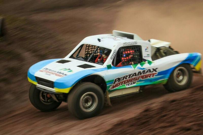 Comeback gemilang Rifat Sungkar bersama Pertamax Motorsport di ajang speed offroad. (foto : ist)