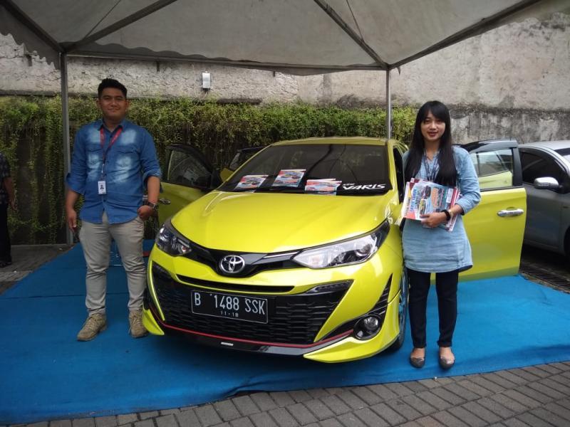 All New Toyota Yaris cocok untuk generasi muda aktif dan kreatif. (foto: anto)