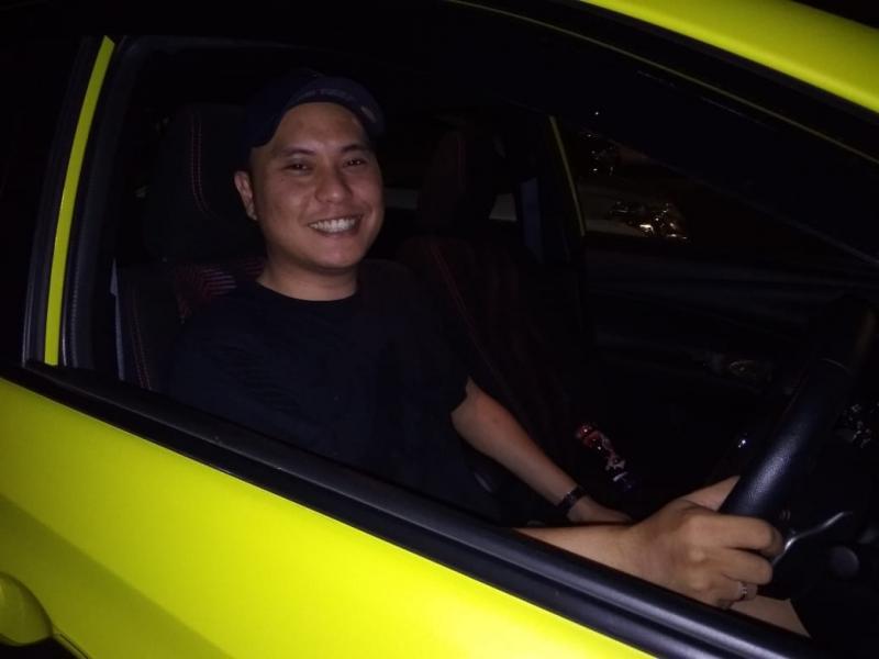 Iyas Ecoutez, terkesan dengan All New Toyota Yaris di Balai Sarwono. (foto: anto)