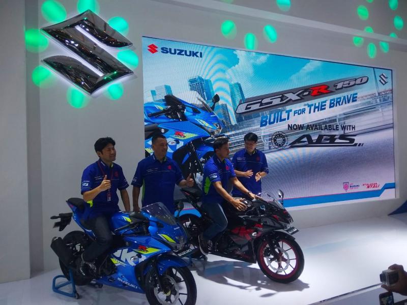 Motor Sport Suzuki GSX-R150 kini variannya lengkap dengan fitur ABS. (foto: anto)