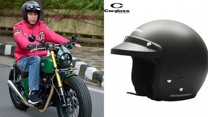 Helm yang dipakai Presiden Jokowi banyak dijual di pasaran dengan harga cukup terjangkau. (foto: tribun)