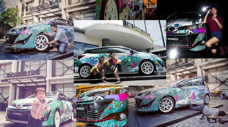 Yaris Photo Hunt mengeksplorasi sisi unik dari desain kekinian All New Toyota Yaris. (foto: TAM)