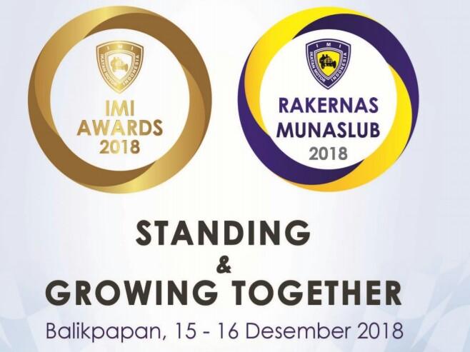 Tiga acara besar IMI yakni IMI Awards, Rakernas & Munaslub IMI di Balikpapan. (foto : ist)
