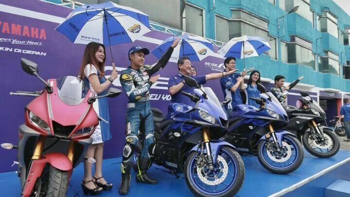 Minoru Morimoto, di acara jajal produk terbaru Yamaha di sirkuit Sentul. (foto : ist)