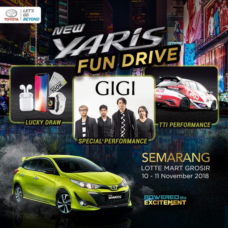 Yaris Fun Drive 2018 Semarang dimeriahkan Band Gigi. (foto: TAM)