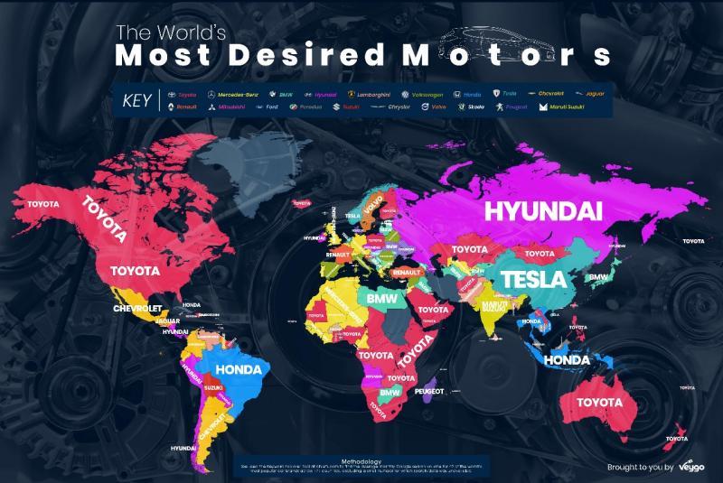 Posisi Toyota kokoh sebagai merek mobil paling dicari di Google dalam beberapa tahun terakhir. (foto: Veygo)