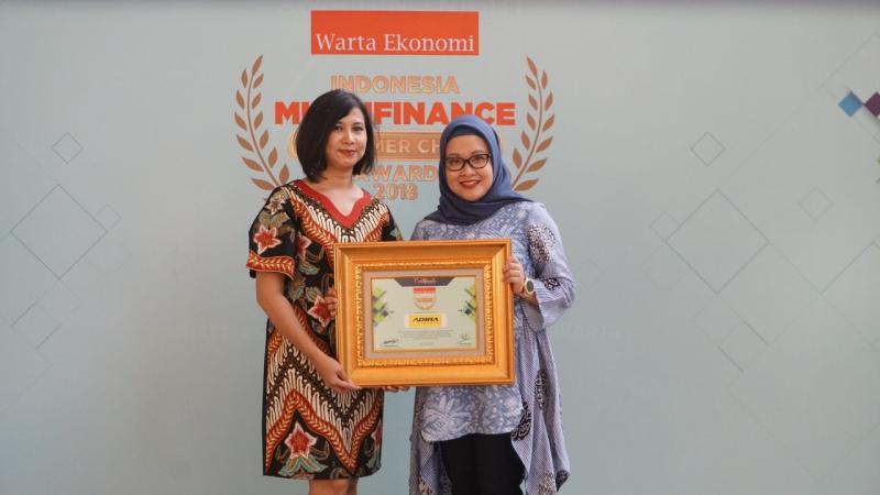 Adira Finance raih penghargaan Consumer Choice untuk kategori leasing mobil, motor dan elektronik. (foto: ist)