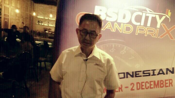 Irawan Sucahyono, desainer sirkuit street race BSD City. (foto : bs)