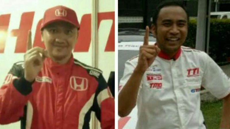 Alvin Bahar (kiri) dan Haridarma Manoppo. Pertarungan hidup mati di BSD City GP. (foto : kolase)