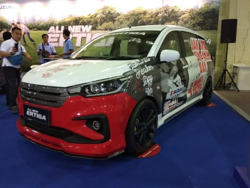 All New Suzuki Ertiga tampil semakin sporty di IMX 2018. (foto: anto)