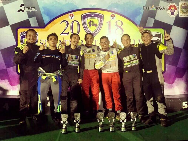 Skuad HRVRT BGM-HBM yang memborong gelar terhormat di ajang reli dan sprint rally 2018. (foto : hrvrt)