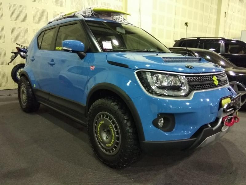 Suzuki Ignis jadi satu-satunya Urban SUV yang tampil maksimal di IMX 2018. (foto: anto)