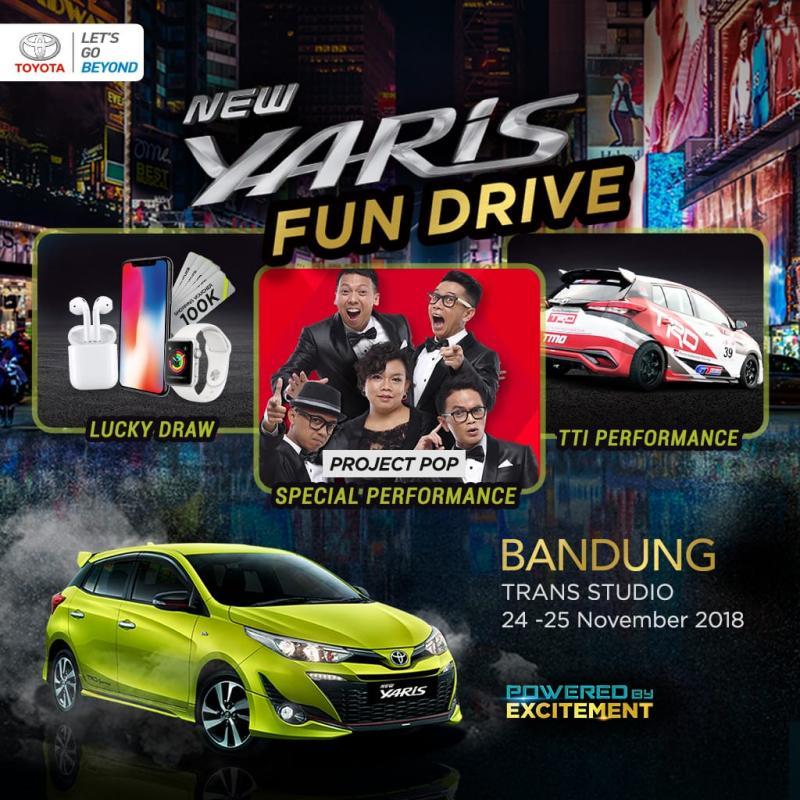 Yaris Fun Drive 2018 Bandung dimeriahkan Band Project Pop. (foto: TAM)