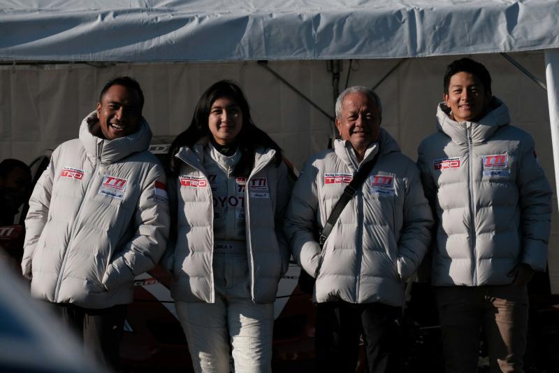 Haridarma, Alinka, Rio Haryanto dan Memet Jumhana di Toyota Gazoo Racing 2018. (foto : tti)