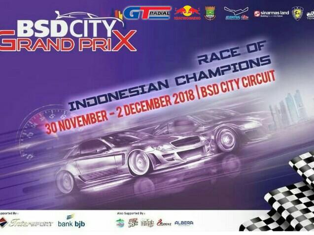 BSD City GP 2018 siap digelar di BSD City Tangerang akhir pekan ini. (foto : Ist)