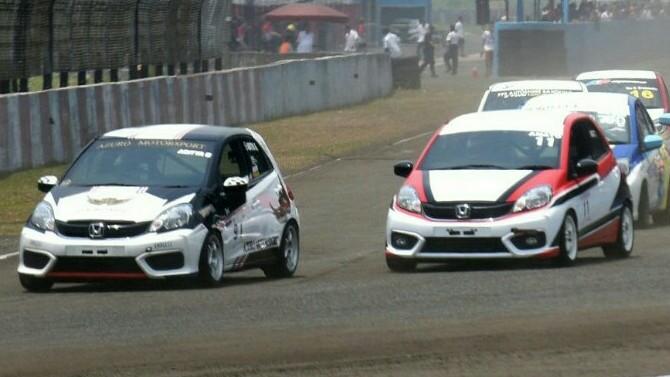 Persaingan masih ketat di Honda Brio Speed Challenge 2018. (foto : hpm)