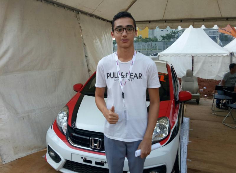 Amato Rudolph berharap bisa mencetak hattrick dengan menang di BSD City GP. (foto : bs)