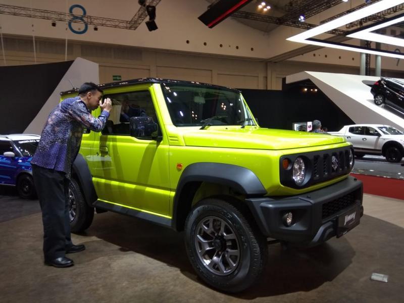 Banyak yang penasaran dengan All New Suzuki Jimny di GIIAS 2018 lalu, namun belum ada kelanjutan ceritanya. (foto: anto)