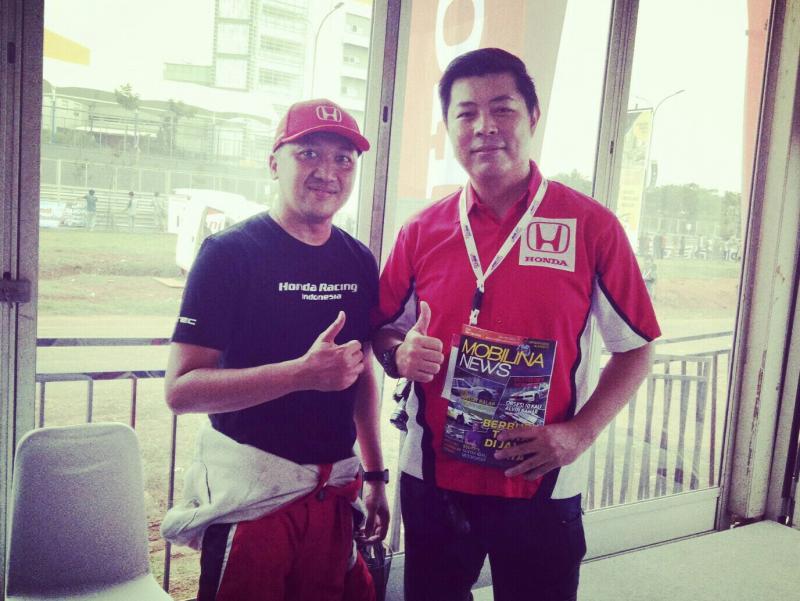 Jonfis Fandy dan Alvin Bahar, tidak ada penambahan pembalap tim Honda Racing Indonesia. (foto : hilary)