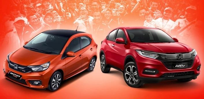 All New Honda Brio dan New Honda HR-V jadi andalan penjualan PT Honda Prospect Motor. (foto: ist)