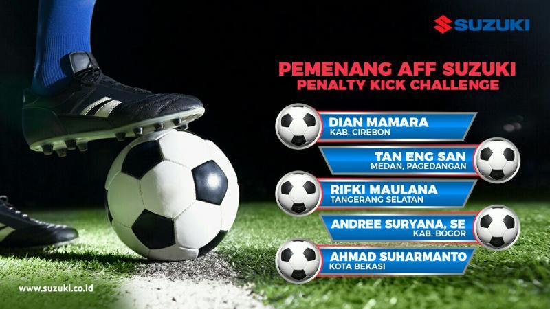 Ini para pemenang yang akan adu tendangan penalti di Lapangan Banteng Jakarta. (foto : ist)