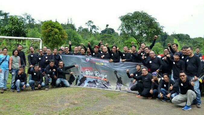 Sekitar 80 jurnalis FORWOT mengikuti touring Bro Ringgo di Kabupaten Bogor. (foto : forwot)