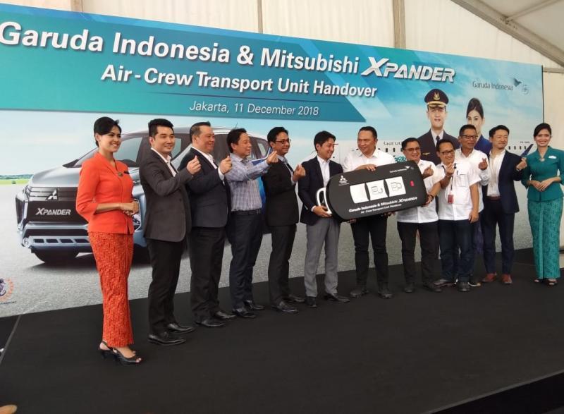 Mitsubishi Xpander mulai masuk bisnis fleet jadi armada kru kabin Garuda Indonesia. (foto: anto)