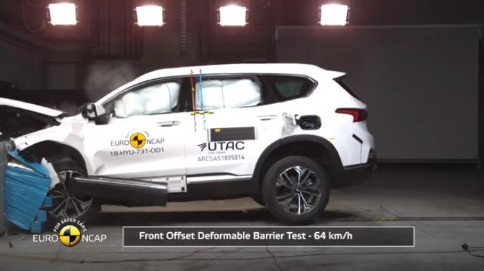 Hyundai Santa Fe terbaru dilengkapi sejumlah fitur keselamatan mumpuni. (foto: NCAP)