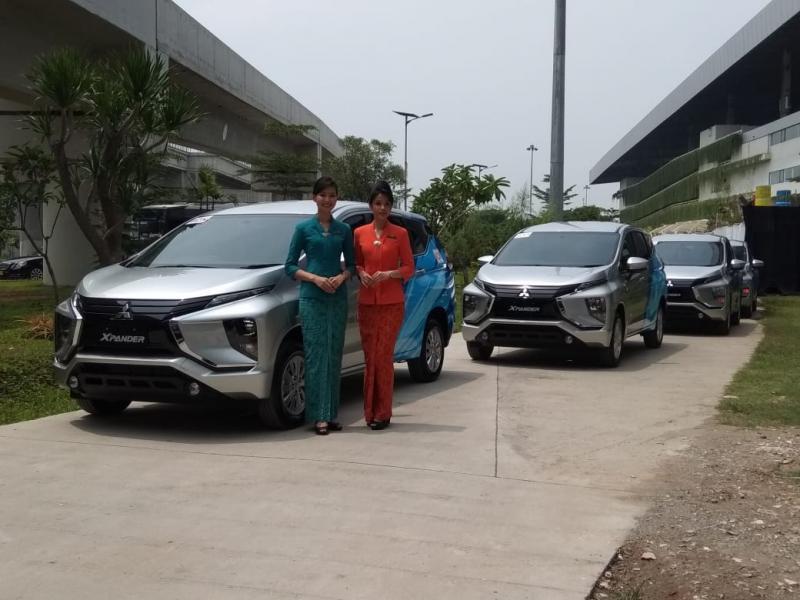 Mitsubishi Xpander mengawali segmen bisnis fleet mulai dari Garuda Indonesia. (foto: anto)
