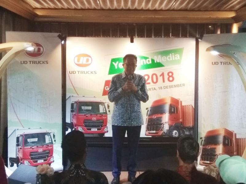Aloysius Chrisnoadhi, UD Trucks di 2019 akan banyak program dan Maksimalkan layanan. (foto: anto)