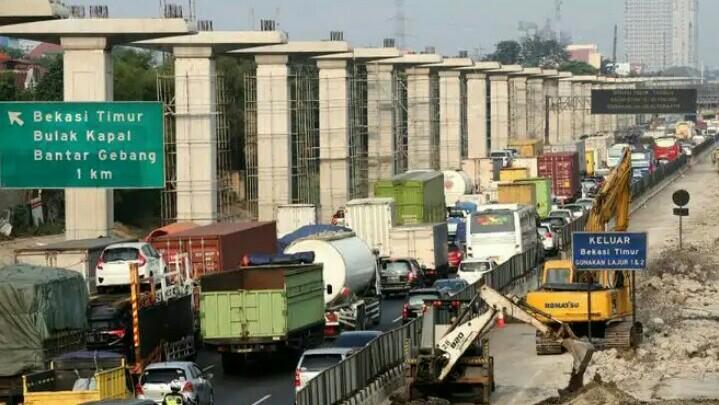 Pembangunan tol elevated, LRT dan kereta cepat Jakarta-Bandung dihentikan sementara. (foto : ist)
