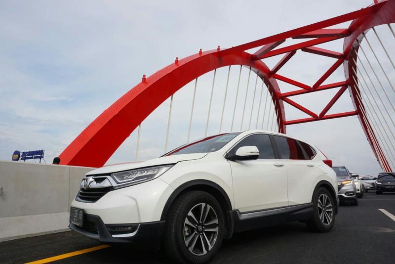 Jembatan Kalikuto di Kendal jadi titip pemberhentian tim ekspedisi Honda. (foto : ist)