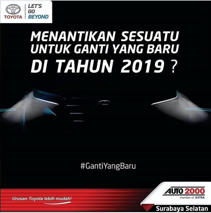 Siluet wujud New Avanza 2019 mulai ditampilkan di e-flyer Auto2000. (foto: istimewa)
